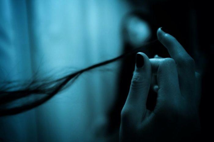 Hair Blue Hand Monochrome
