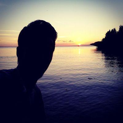 Somewhere... 2Mar Silhouette Sunset Cliff Rocks Beach sea crimson visitPH2015 MysticSiquijor Siquijor Bugwas