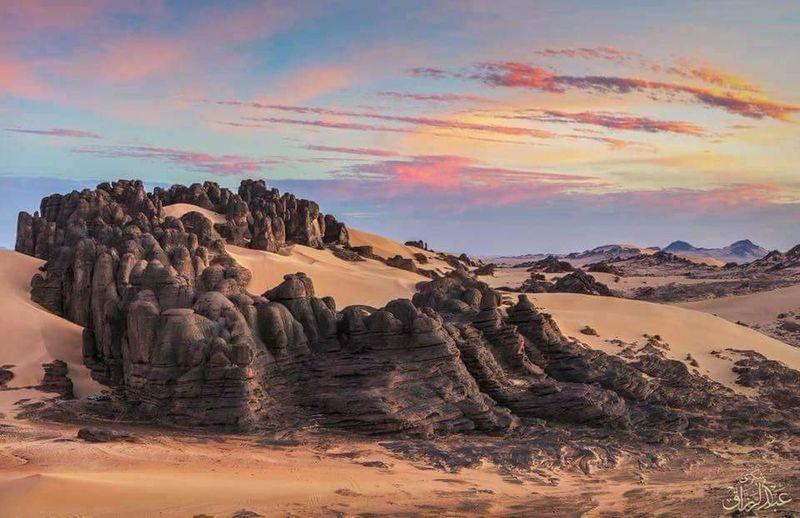 Sand Dune Desert Sunset Sand Rock Hoodoo Arid Climate Rock - Object Sunlight Sky Landscape