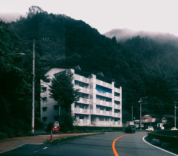 // curve // Adult AMPt_community Architecture Architecture Building Building Exterior Built Structure City Day EyeEm EyeEm Best Shots Eyemphotography Fog Japan Mountain Nature Outdoors People Real People Road Shootermag Sky Travel Tree Ultimate Japan