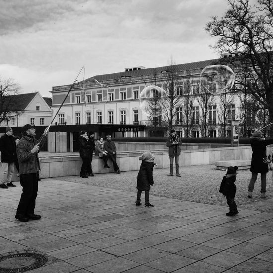 Hanging Out Bubbles Soap Bubbles Kids Being Kids Kids Sunday Old Town Moments Poland Playtime Children Still Movement