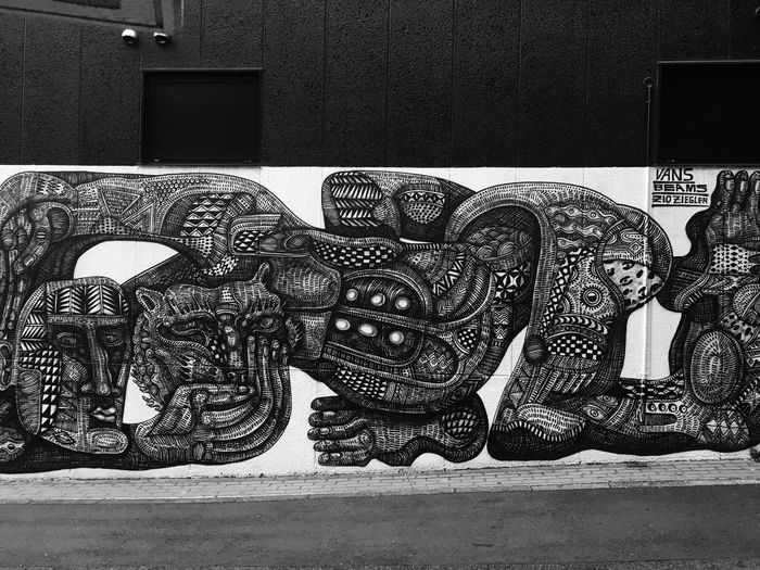 It's what you want and see it to be. Perspective Mural Vans Offthewall ArtWork Blackandwhite Monochrome Intricate Photography Intricate Details Beautiful Urban Check This Out