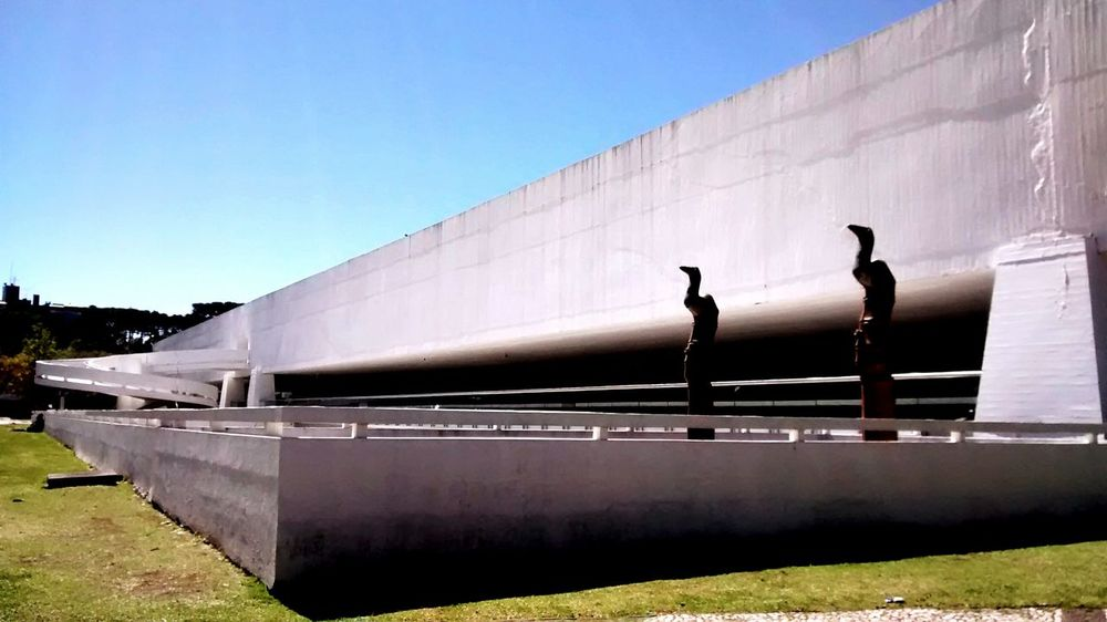 Architecture Built Structure Outdoors Innovation Museu Oscar Niemeyer Museums No People Sky Curitibacool Brazil EyeEmNewHere