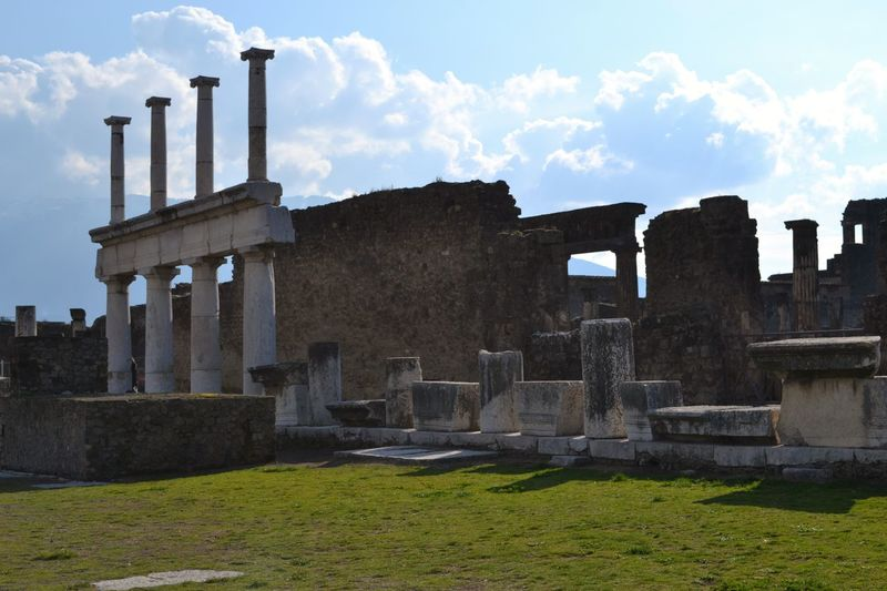 Antique Antiquity Architecture Brick Colones History Italy Memories Pompeii  Ruins Architecture Travel Traveling