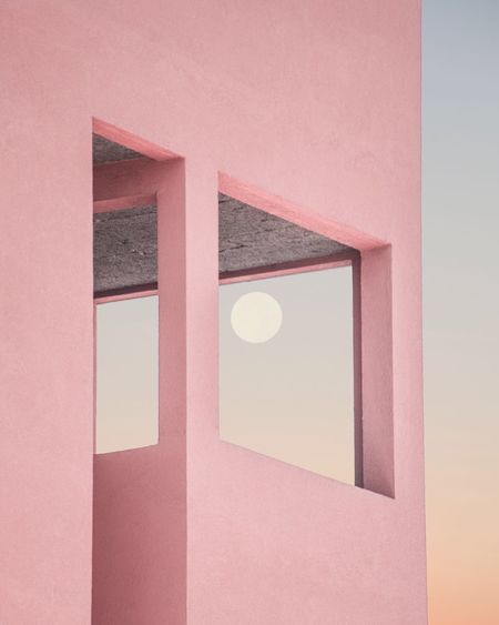 Architecture No People Sky Moon Fine Art Photography Contemporary Art City Pink Color Sunset The Week On EyeEm Editor's Picks