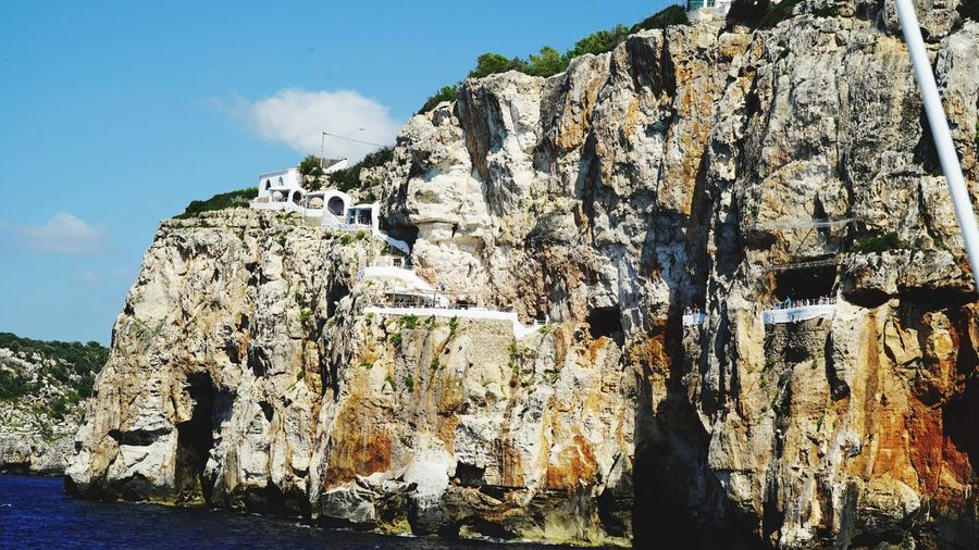 West Coast Menorca Restaurant Sky Nature Day Sunlight Outdoors Beauty In Nature Tranquility Rock Formation Built Structure