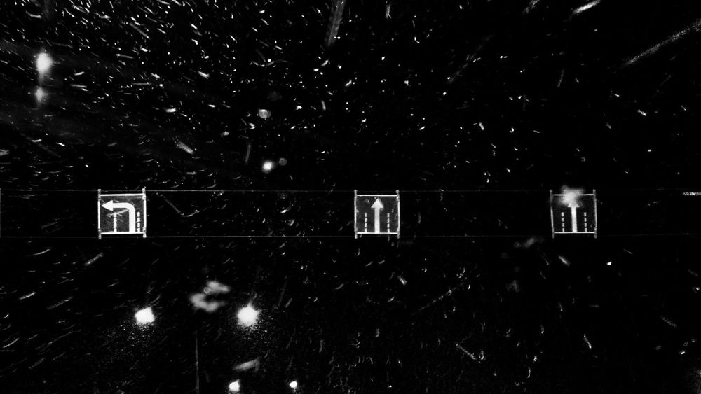 Galaxy traffic directions Night No People Outdoors Astronomy The Week On EyeEm Moto X2 Blackandwhite Black & White Connected By Travel Moving Fast Moving Forward  Snow Road Trip Road Sign Road Arrows Direction Black And White Friday Shades Of Winter Mobility In Mega Cities Creative Space