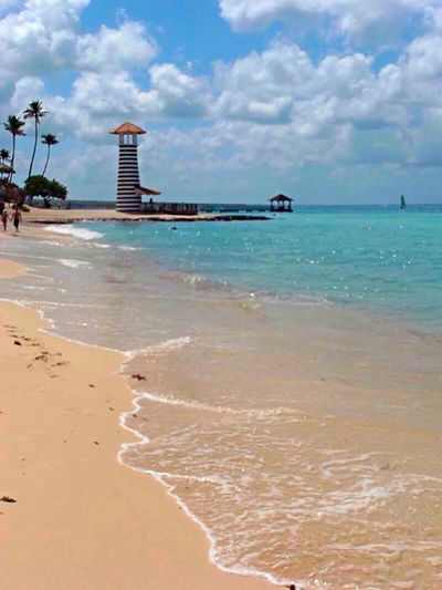 Beach Day Dominicus Beach Lighthouse Nature Palm Trees Playa Dominicus Sand Scenics Sea
