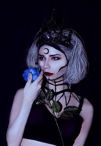 Women Gothic Makeup Girl Artfoto Art Roses