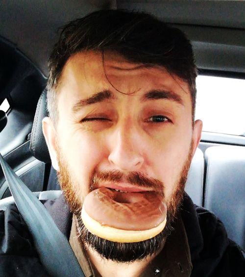fat Thursday Donuts Donut Diet Joke Diet Fail Tłustyczwartek Pączek Only Men One Man Only Adults Only Men Headshot Close-up Beard Love Yourself The Portraitist - 2018 EyeEm Awards