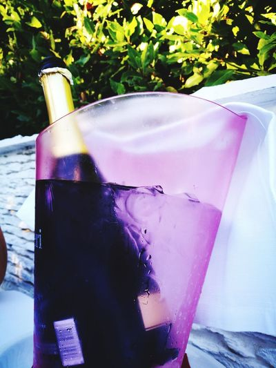 Drink Refreshment Alcohol Ice Cube Food And Drink Close-up Outdoors No People Freshness Botlle Wine