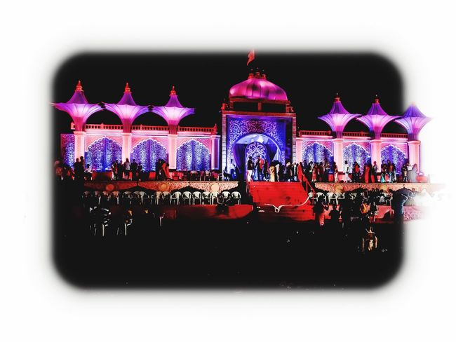 Architecture Building Exterior Built Structure Pink Color Night No People Illuminated Outdoors
