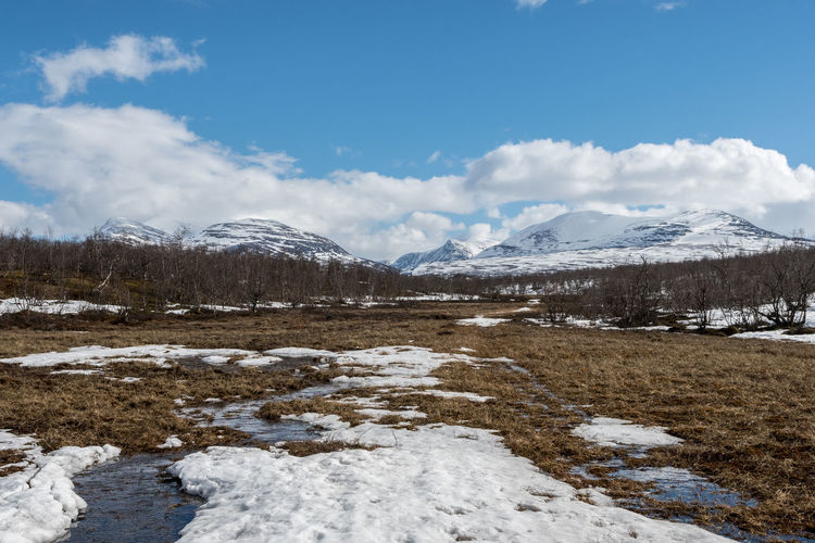 Abisko National Park 2 Abisko Beauty In Nature Cloud - Sky Cold Temperature Day Landscape Mountain Nature No People Outdoors Scenics Sky Snow Sweden Water