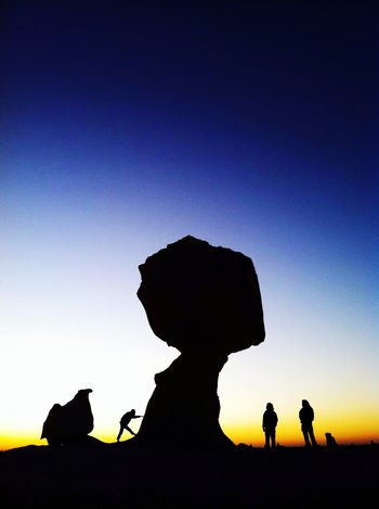 Silhouette Sun Rise Sunrise_Collection Light And Shadow Travelling Miles Away Landscape Silhouette Group Of People Stone Stone - Object EyeEm Gallery