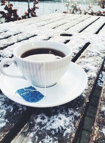 Goodmorning Drink Tea Deepfreeze Chilling ✌