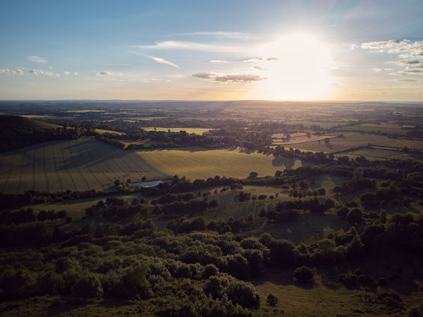 Coombe Hill in the Chilterns - England Aerial Aerial View Beauty In Nature Coombe Hill Day Drone  Drone Photography Dronephotography Droneshot Horizon Landscape Nature No People Outdoors Purple Smoke Scenics Sky Smoke Grenades Sunset Tranquil Scene Tranquility Viewpoint Lost In The Landscape