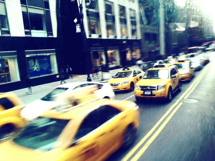 New York Cabs Cityscapes New York City Morning Rush Morning Traffic Yellowcab Street Photography Taxisnyc Taxi! Taxicab Travel Photography Femalephotographer