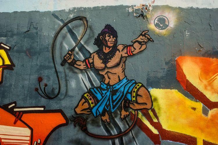 Hanuman para mural crazyapes tour stencil Hanuman Stencil Arte Urbano  Yatusabesmadrid