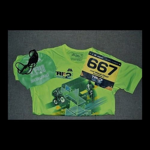 Goodluck to all fellow triathletes and also to me! Let's do this! ???TU2 Triunited2 Swimbikerunph TRIATHLON multisport