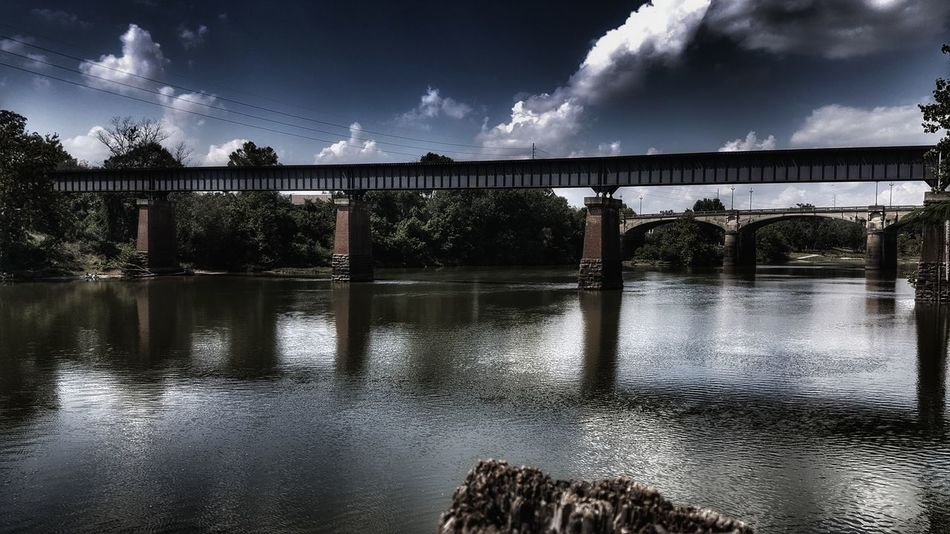 Cry a river, build a bridge, get over it! #Georgia #Nature  #river #bridge Water Storm Cloud Sky