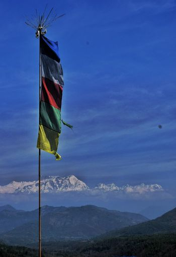 flags Tibetan  TibetanFlags Mountains Landscape Nature Nepal Adventure Pacefull Trekking Mountain Multi Colored Flag Wind Sky