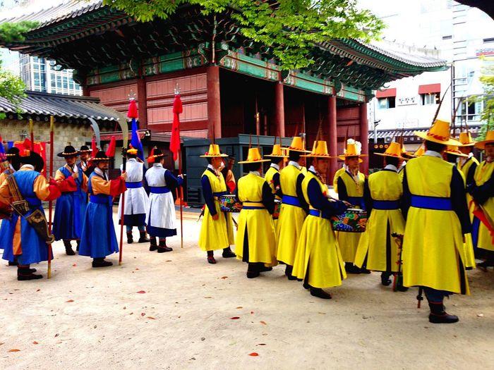Korean Royal Marching Band. AD 1000s. Korea Korean 首爾 Seoul 서울 Hanguk Daeheminguk EyeEmBestPics History Historical Asian Culture Army