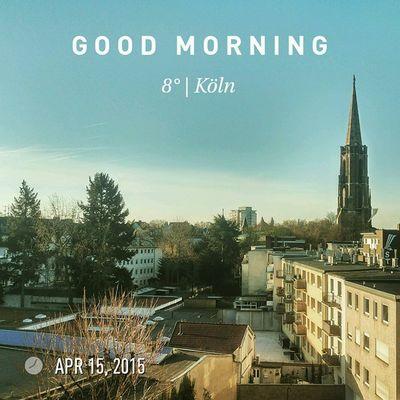 "Jode Morje Kölle, good morning world. Beautiful ""summer"" day ahead! Köln Kolle Cologne Weather Wetter Spring Frühling Sun Sonne"