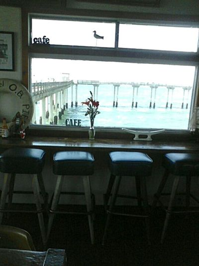 Surf's Up Ocean Beach Pier Ob Pier Cafe On Top Of The Water Post Surf Place To Eat Calming Views Tranquility At Its Finest Blue Skies Blue Seas Cozy Cafe On The Ocean California Dreamin
