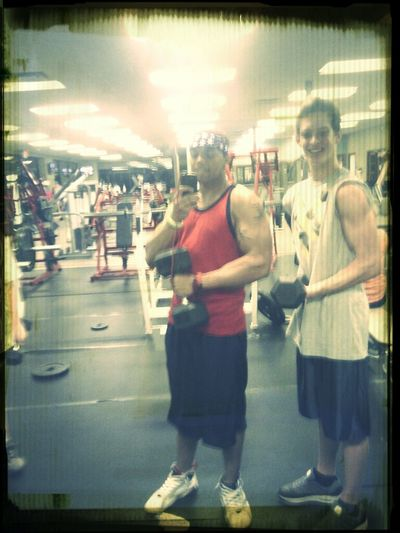 Gyming with my best bud