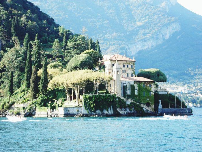Coastline with holiday villa