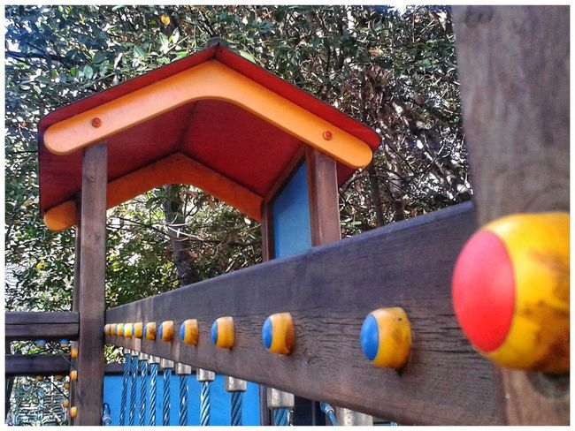 Possibly the playground of that crazy man :)) Red Button Playground Kinderspielplatz Giochi Per Bambini Android Photography S3 Mini Smartphone Photography Built Structure Railing Architecture Day No People Low Angle View Multi Colored Yellow Outdoors