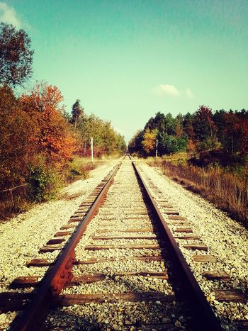 My soul needed a walk down the tracks. Justbecause