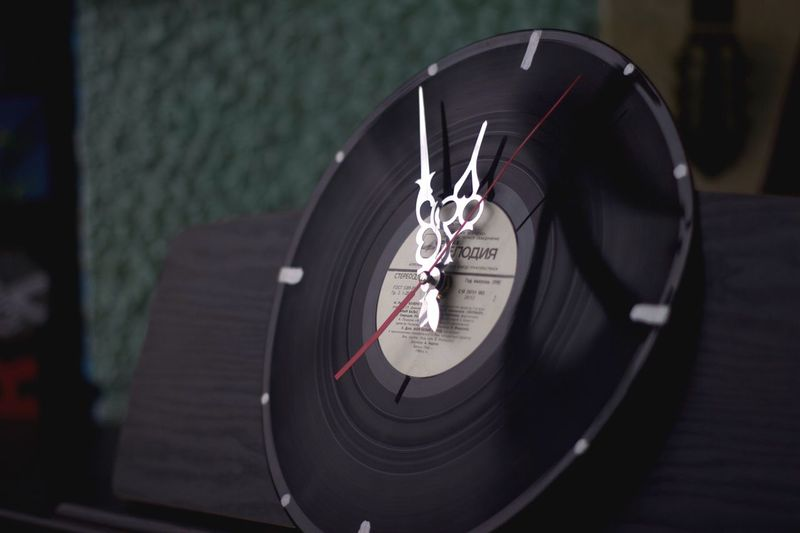 Record Time Close-up Music Indoors  Analogue Sound Technology Accuracy Arts Culture And Entertainment