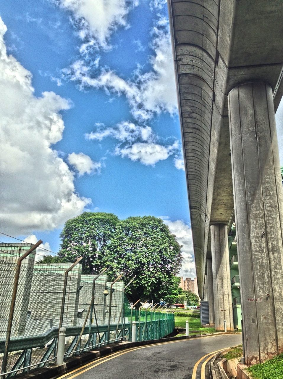 sky, day, bridge - man made structure, architecture, cloud - sky, tree, outdoors, built structure, no people, nature