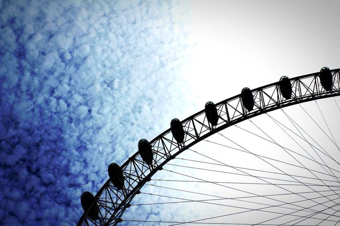 Sky Low Angle View Built Structure No People Outdoors Eye4photography  London London Eye
