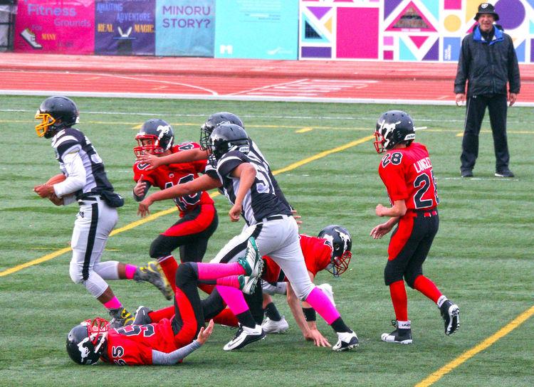 Junior Football Sportsman Teamwork Sports Helmet Sports Clothing Sport Competition Headwear Richmond BC Canada B.C Competitive Sport Sports Team Uniform Canada