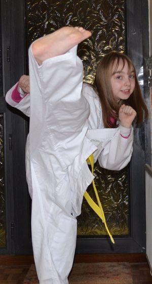 First Belt achieved Daughter Children Kids Wado-ryu Karate Kickboxing Aïkido Sport Sports Photography