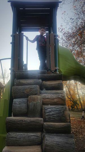 Playground My Son ❤ Playground Fun With The Kids Playground Fun Lambertville Nj Autumn Fun Boys Playground Structure Lambertville, NJ