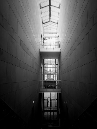 Blackandwhite Architecture Built Structure Wall - Building Feature Indoors  No People Building Day Wall Ceiling Door Entrance Lighting Equipment Metal Corridor