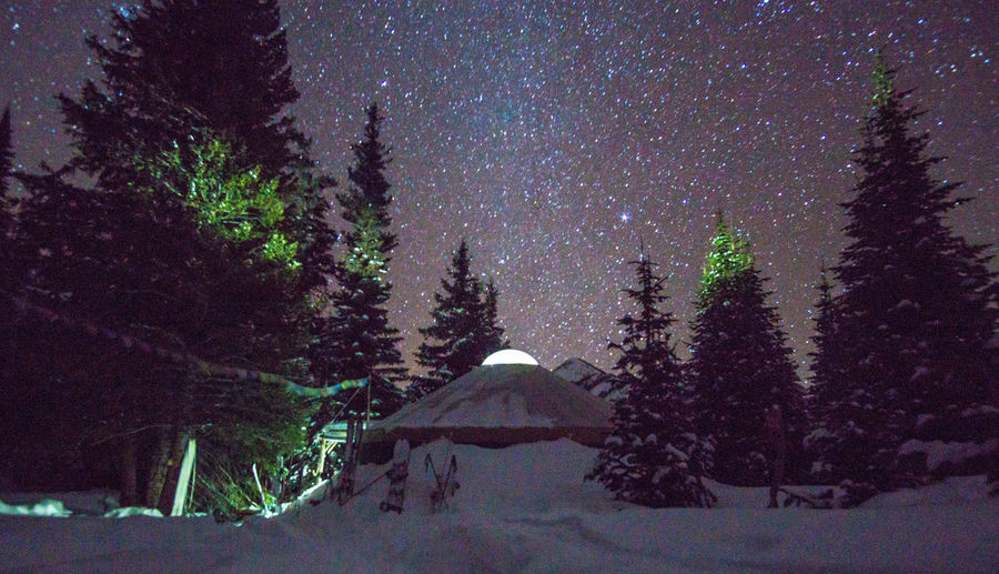 Astrophotography Back Backcountry Backcountryskiing Beauty In Nature Idahp Milkyway Night Non-urban Scene Outdoors Remote Sawtooth Mountains Sky Tranquility Yurt