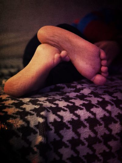 My Little Feet ❤ Human Body Part Indoors  One Person Real People Barefoot Bed Home Interior Close-up Lifestyles People Adult Blackandwhite Beauty Portrait Happiness Hopes And Dreams Dreams Belgique The Week On EyeEm Rêve Antwerpen Childhood Life Instamoment