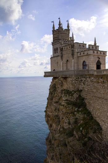 Swallows Nest Castle Against Sea