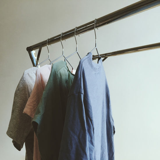 Processed with VSCO with m3 preset Hanging Clothing Coathanger Textile Low Angle View Close-up Wall - Building Feature Indoors  Rack Clothes Rack Garment Casual Clothing