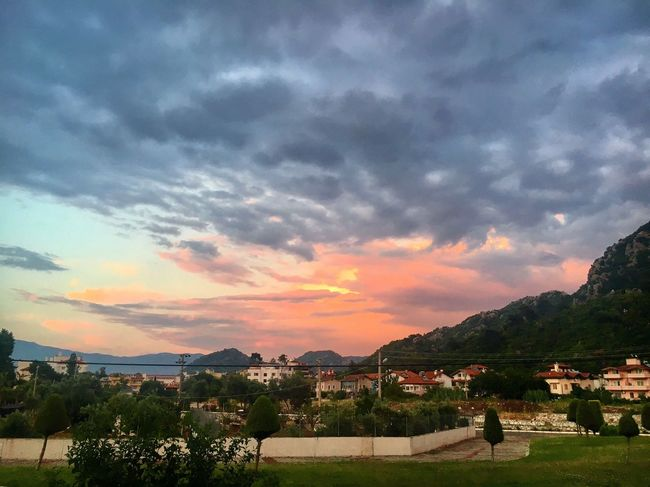 SUNset FUNset Mountain Sky Beauty In Nature Cloud - Sky Architecture Scenics Nature No People Tranquility Landscape Outdoors Sunset Beauty In Nature Marmaris, Turkey Icmeler Turkey Travel Photography Travel Tranquility Nature (null)Storm Stormy Weather Clouds And Sky Landscape_Collection