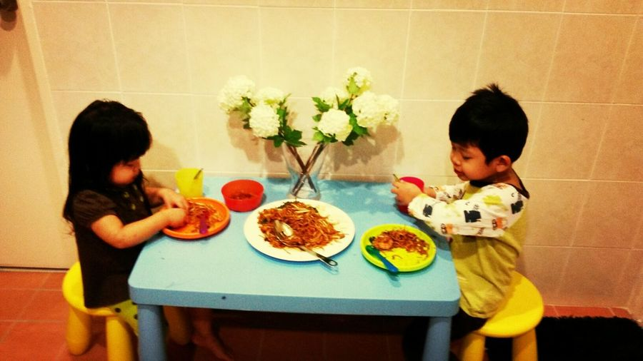 Looking at them eating...... reminds me of my childhood life.