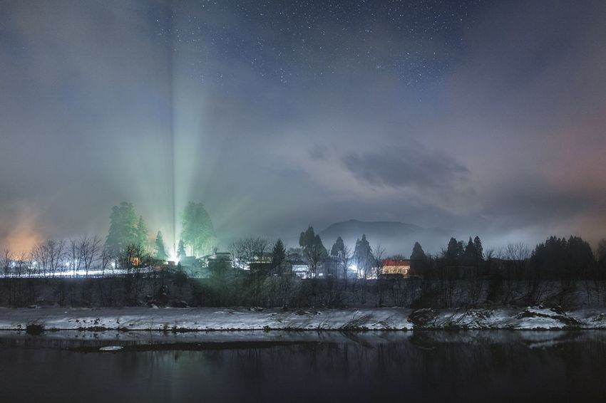 Light And Shadow Stars Weather Night Winter Nature Water Beauty In Nature Cold Temperature Sky Snow