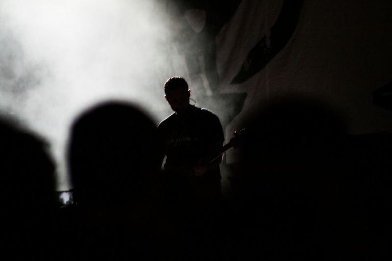 Lead singer Tim Mcllrath of Rise Against at Summerfest 2014 in Milwaukee Wisconsin Silhouette Concert