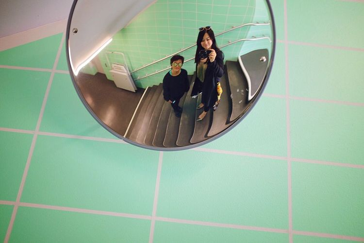 Mirror Hamburger Bahnhof Green Portrait