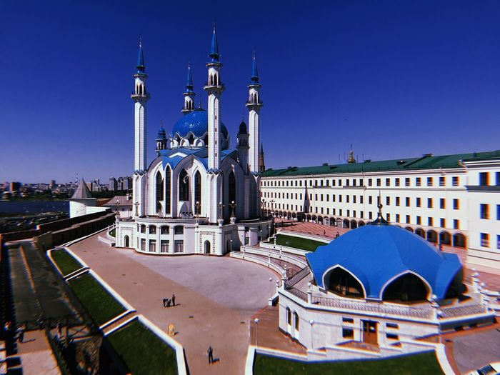 Muslim Kazan Religion Architecture Building Exterior Built Structure Sky Building City Travel Destinations Place Of Worship Tourism Travel Day