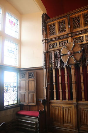 Armory Craftsmanship  Detailed Woodwork Edinburgh Castle Indoors  Large Group Of Objects Scotland Weapons